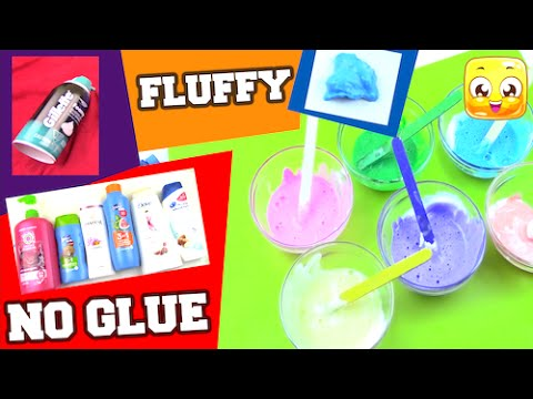 Fluffy Slime Without Glue, Borax, Liquid Starch, Detergent, Eye Drops | Make Slime DIY Shampoo Test