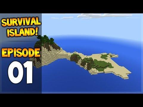 Minecraft Pocket Edition - Survival Island - Stranded At Sea Episode 1