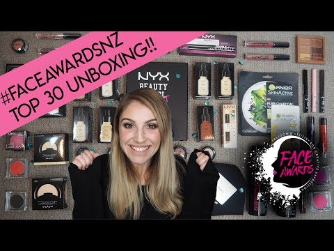 NYX Face Awards NZ 2018 - TOP 30 Unboxing!!