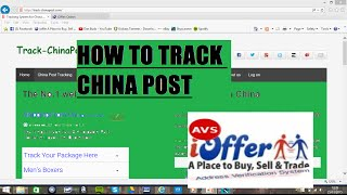 IOFFER HOW TO TRACK CHINA POST OFFICIAL SITE