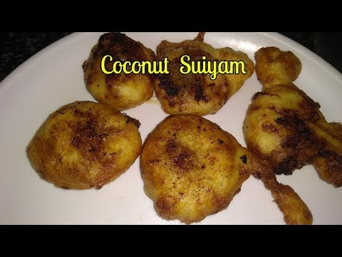coconut suiyam | susiyam with coconut and jaggery fillings