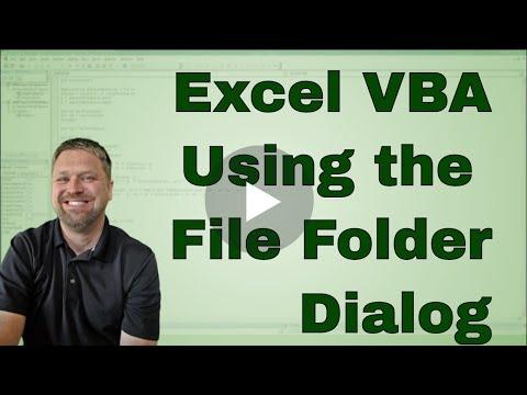 Excel VBA Folder Picker