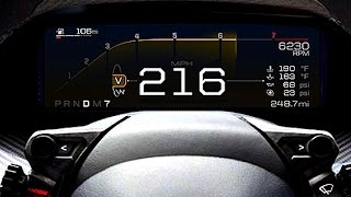 New Ford GT 216 MPH Digital Instrument Display: Dashboard of the Future Video Ford GT