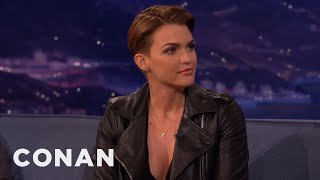 Ruby Rose On Looking Like Justin Bieber  - CONAN on TBS