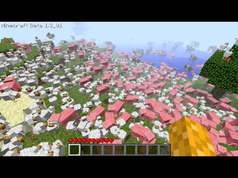 Minecraft: Mob spawner Mod single player, lots of pigs