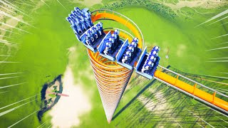 The Worlds Most INSANE Stand Up Roller Coaster... In Planet Coaster!