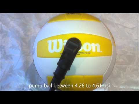 How To Pump Up A Volleyball