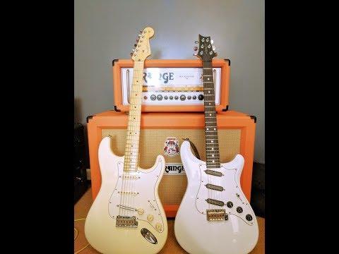 PRS USA EG Vs Fender USA Standard Stratocaster - Singlecoil Shootout