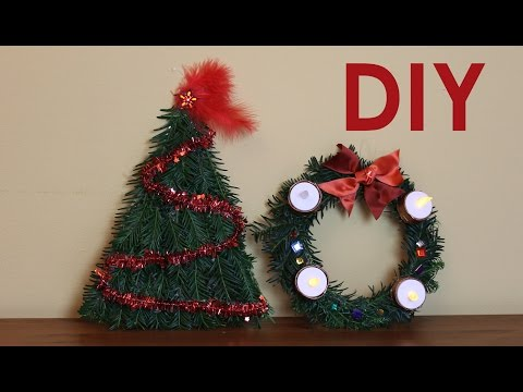 DIY Easy Advent Wreath and Door Decor - Christmas 2015 #5