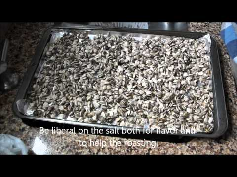 Roasted Sunflower Seed Recipe (home grown)