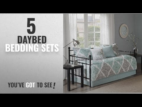 Top 10 Daybed Bedding Sets [2018]: Claire 6 Piece Daybed Set Aqua Daybed