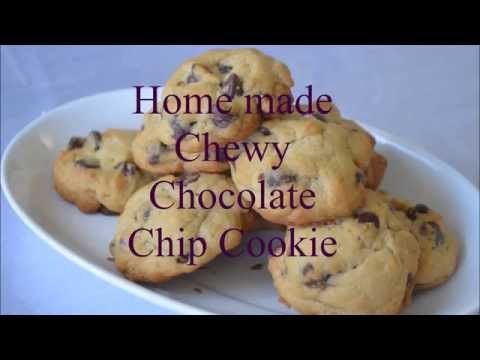 Homemade soft chewy chocolate chip cookie