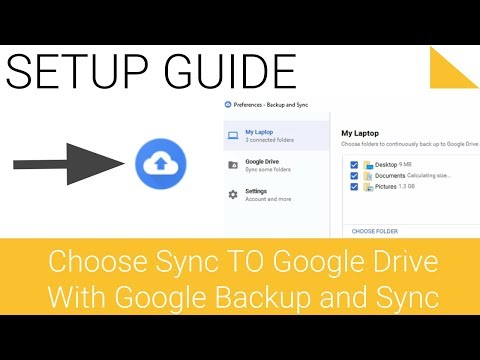 Change Google Backup and Sync settings Choose what to sync to Google Drive