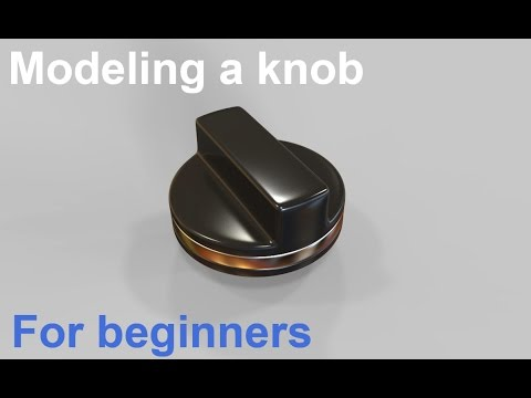 Modeling a knob in 3ds max - 3ds max tutorial