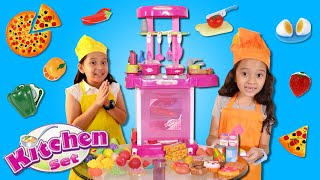 Aina & Alia Cooking With Kitchen Play Set And Food Toys