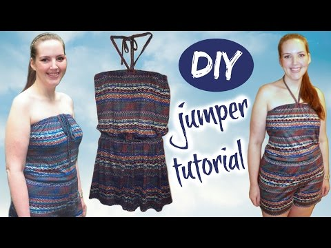 DIY Romper (Strapless or Halter) | Summer Fashion Sewing Tutorial - Jumpsuit with Shorts