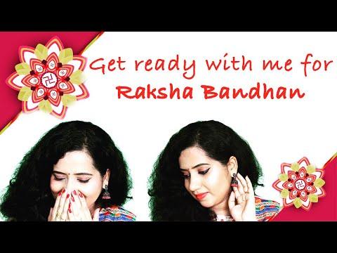 #GRWM: Easy Makeup Tutorial for Raksha Bandhan/Rakhi   रक्षाबंधन   Happy Pink Studio