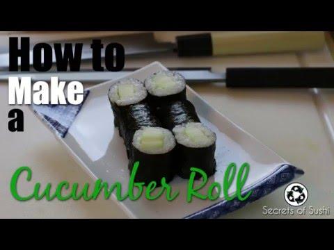 How to Make Cucumber Sushi