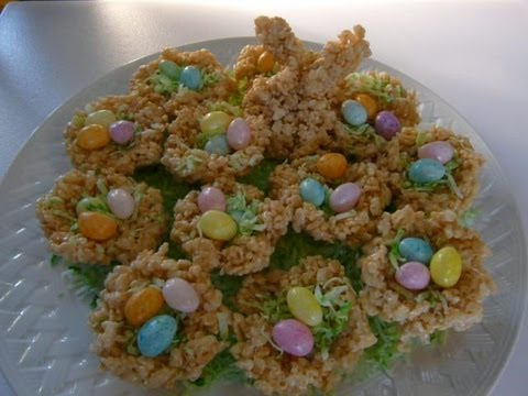 EASTER BASKET RICE KRISPY TREATS - How to make RICE KRISPY TREAT Recipe