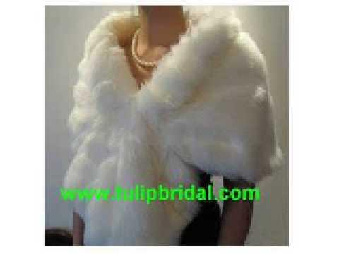 Ivory bridal faux fur wrap shrug stole shawl cape