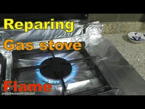 Repairing gas stove flame