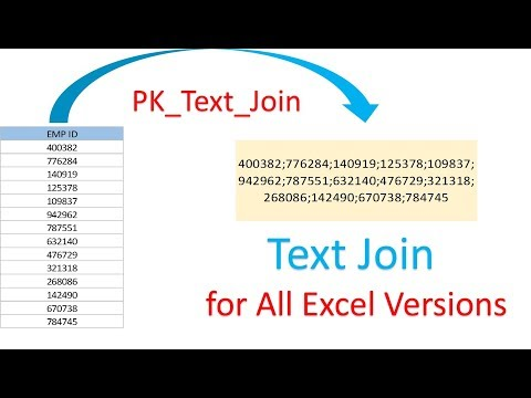 Text Join Formula for all Excel Versions