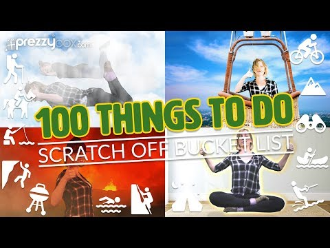 100 Thing To Do Poster - The Best Bucket List