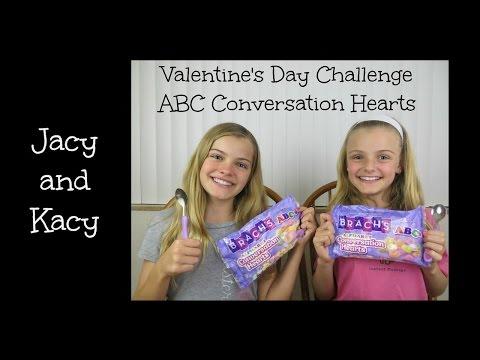 Valentine's Day Conversation Hearts Challenge ~ Jacy and Kacy