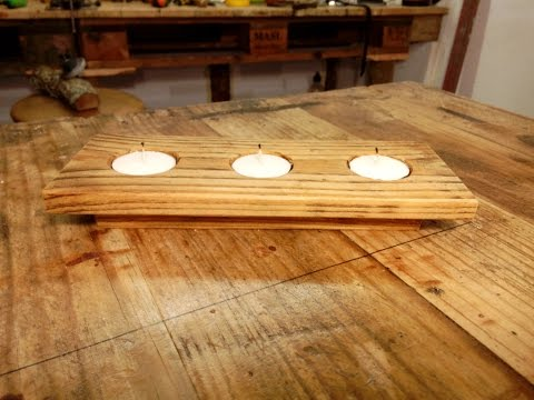 Pallet Wood Candle Holder