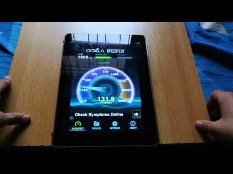 iPad Air iOS 7.0.4 Jailbroken Internet Speed Test