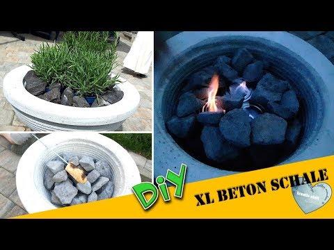 DIY - XL Feuerschale aus Beton | Blumenschale | Concrete Fire Bowl