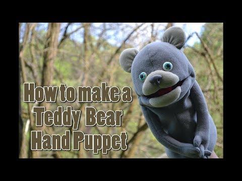 How to make  a teddy bear foam hand puppet DIY