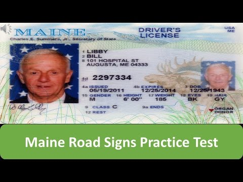 Maine Road Signs Practice Test