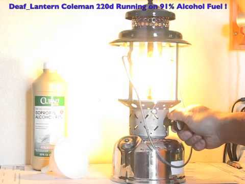 Special Coleman Lantern w/ 91% Alcohol as Fuel (Deaf_Lantern)