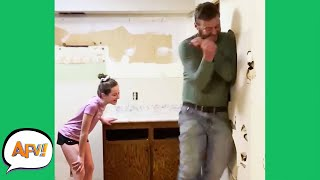 Guess Who BUSTS First: HIM or the WALL?! 😂 | Funny Fails | AFV 2021