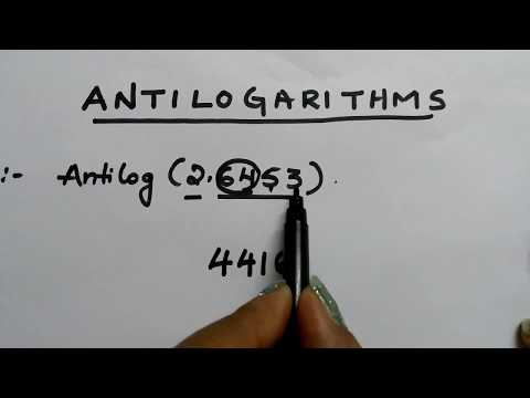 Easy way to find Antilogarithms