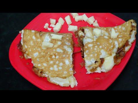 भाजी चिज़ आॅमलेट | BHAJI CHEESE OMLETE | Madhavi's Rasoi