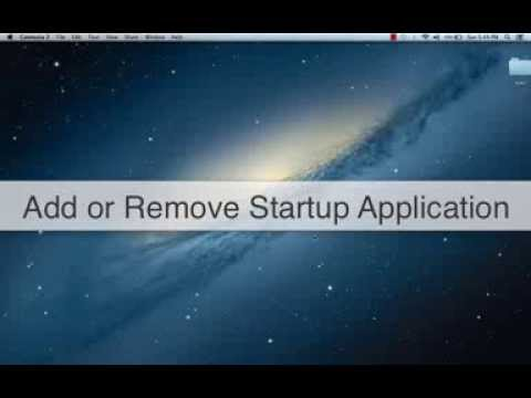 Add or Remove Startup applications in Mac OS X