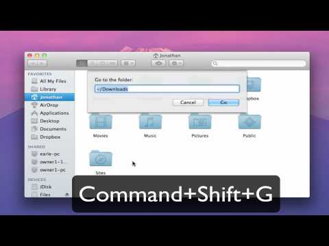 OSX Lion- How to find your library folder [HD]