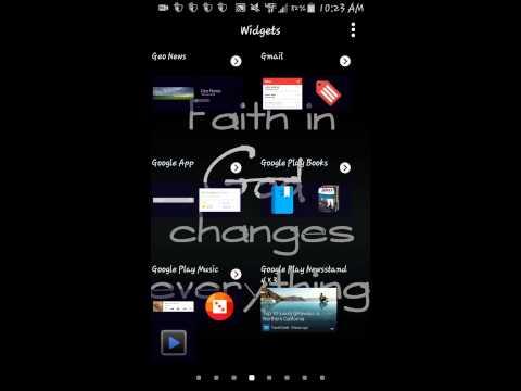 Samsung Galaxy S5 tutorial - Widgets