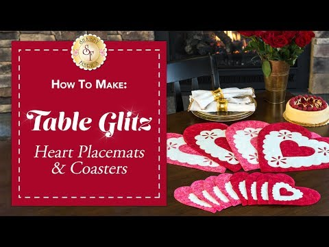 How to Make Heart Placemats & Coasters | a Shabby Fabrics Sewing Tutorial
