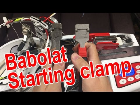 Badminton Racket Stringing Tool (babolat Starting Clamp Comparison With subtitles)