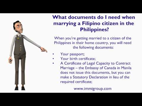 What documents do I need when marrying a Filipino citizen in the Philippines?