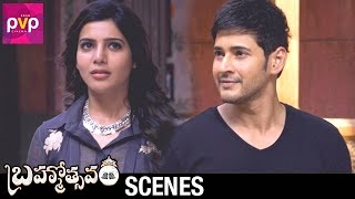 Mahesh Babu and Samantha Funny Conversation | Brahmotsavam Telugu Movie | Kajal Aggarwal | Pranitha
