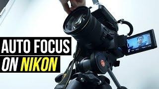 Download How To AUTOFOCUS Video On A Nikon D5200/D5300/D5500? (Best MOVIE Settings)
