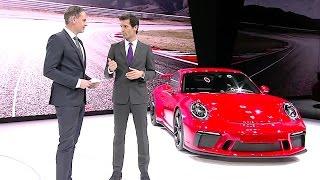2018 Porsche 911 GT3 Reveal Review Mark Webber World Premiere New Porsche 911 CARJAM TV