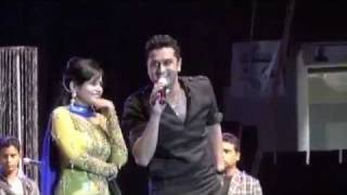 Full Performance Video Miss Pooja Fighting with Roshan Prince  HQ 2011 Live Show