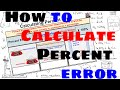 How to Calculate Percent Error