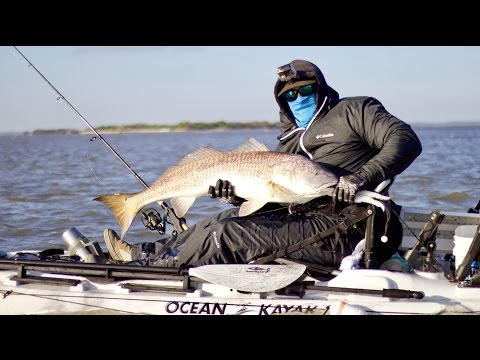 Catching A Bull Redfish From A Kayak