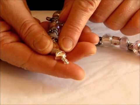 Pandora Style Bracelets - How to open & close, add & remove beads and put it on yourself